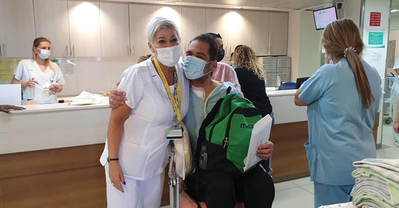 הפרידה מאופיר ורמשטיין בבית החולים מאיר