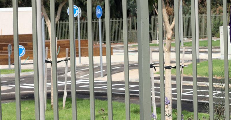 המרכז להדרכת רכיבה באופניים, שבו יוקם בית הספר הזמני. צילום עזרא לוי